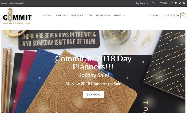 Commit30 Planner homepage