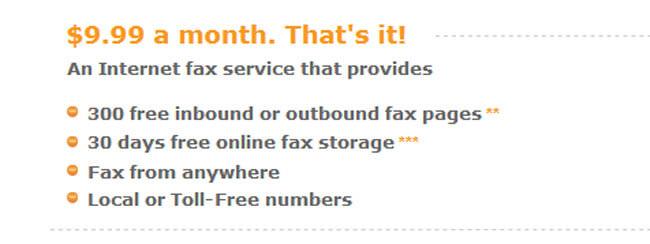 Fax com pricing