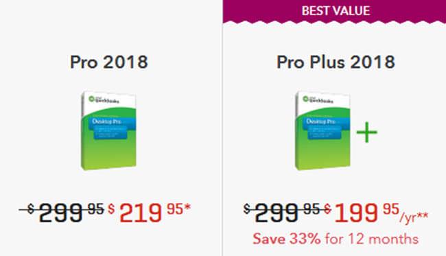 QuickBooks pro pricing plan