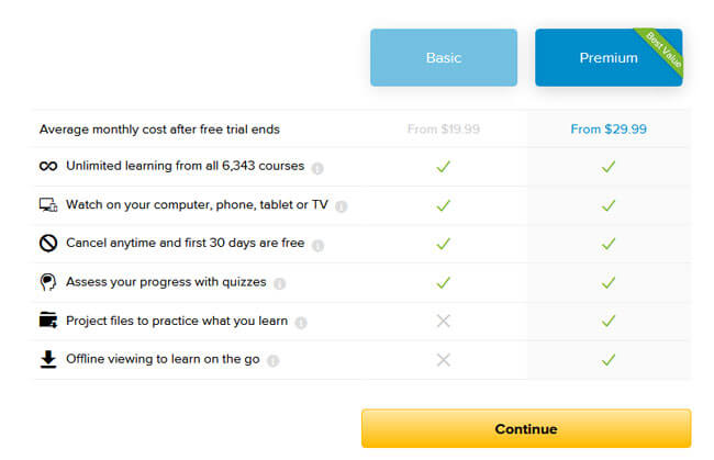 Lynda pricing